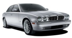 Chauffeur driven cars in Warrington area, including the long wheel based version of the new Jaguar XJ